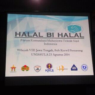 Halal Bi Halal FKMTSI WIlayah VII Regional Jawa Tengah Subwil Semarang